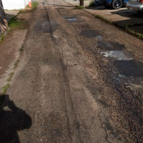 Road cleaning before